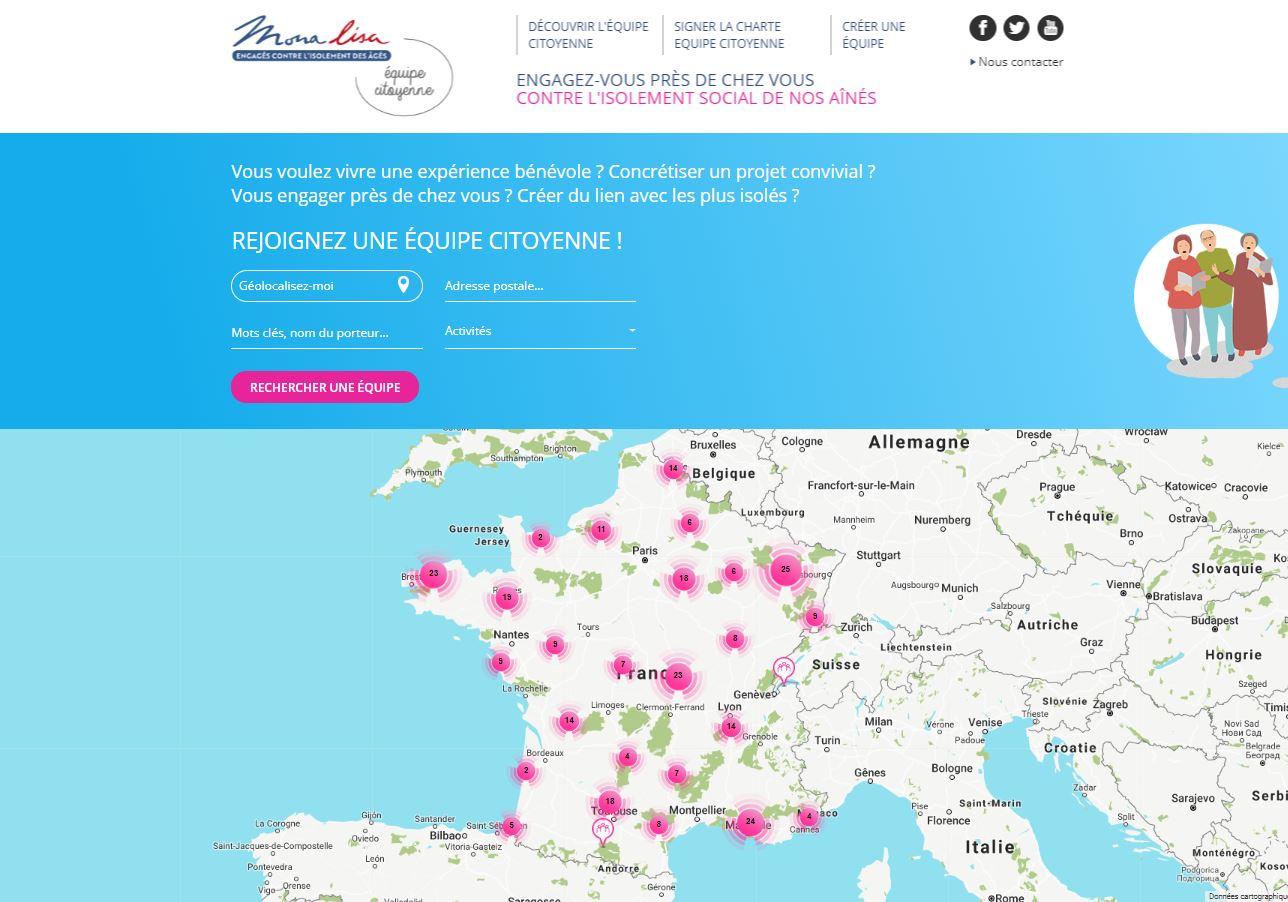 Nouveau site internet : la carte de France des équipes citoyennes !
